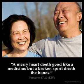 Proverbs_17-22-1: A merry heart doeth good like a medicine: but a broken spirit drieth the bones