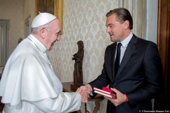 Leonardo Dicaprio With Pope Francis