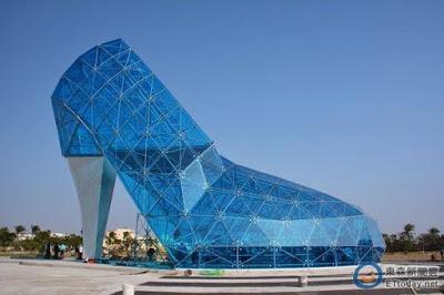 Photos Of Glass High-Heel Shoe Church Built In Taiwan