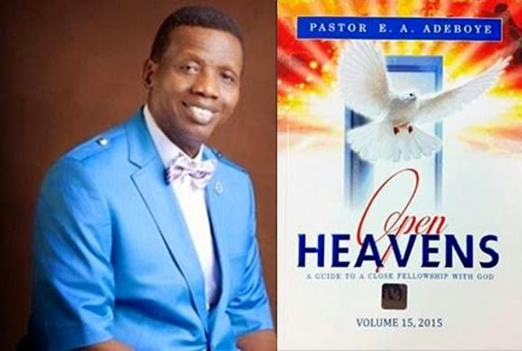 Pastor E A Adeboye. Open Heavens. RCCG